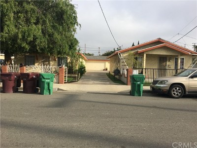 Santa Ana Multi Family Home Active Under Contract: 2401 W Pomona Street