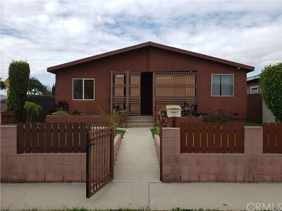 Compton Single Family Home For Sale: 1327 W 133rd Street