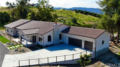 Temecula Single Family Home For Sale: 38125 Camino Sierra Road