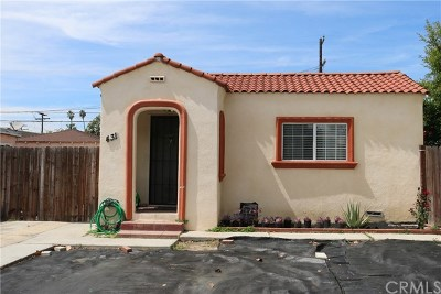Long Beach Single Family Home For Sale: 431 E Plymouth Street