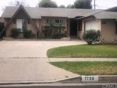 Santa Ana Single Family Home For Sale: 1728 Mc Evoy Lane