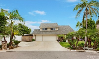 Yorba Linda Single Family Home Active Under Contract: 18652 Evergreen Avenue