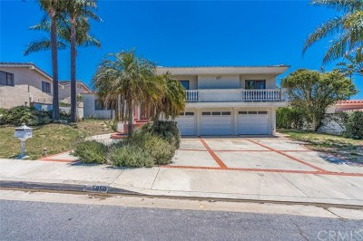 Rancho Palos Verdes Single Family Home For Sale: 5850 Ocean Terrace Drive