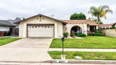 Brea Single Family Home Active Under Contract: 3314 E Date Street