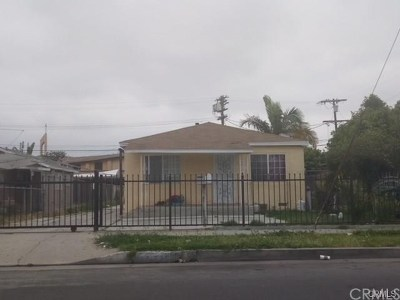 Los Angeles Multi Family Home For Sale: 735 E 87th Street