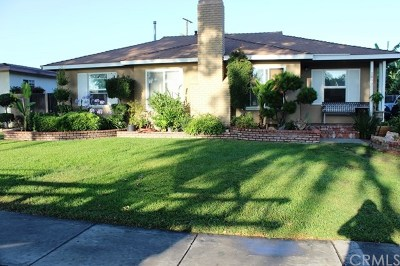 Santa Ana Single Family Home For Sale: 1809 Park Drive