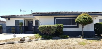 Los Angeles Single Family Home For Sale: 1222 W 122nd Street