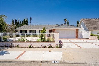 Placentia Single Family Home For Sale: 331 Fairway Lane