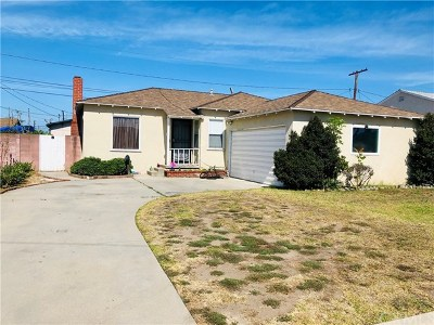 Single Family Home For Sale: 15515 Parron Avenue