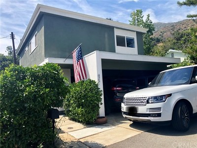 Sierra Madre Single Family Home For Sale: 425 Pleasant Hill Lane