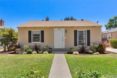 Single Family Home For Sale: 604 W Amerige Avenue