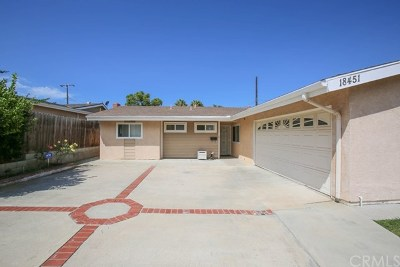 Huntington Beach Single Family Home For Sale: 18451 Delaware Street