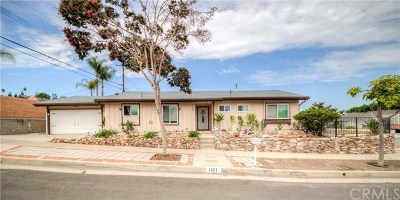 La Habra Single Family Home For Sale: 1421 Dorwood Avenue