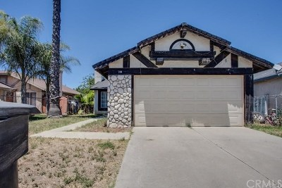 Perris CA Single Family Home For Sale: $180,000