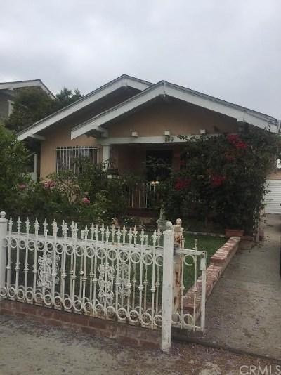 Long Beach Single Family Home For Sale: 509 W 10th Street