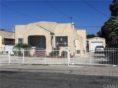 Compton Single Family Home For Sale: 922 N Pearl Avenue