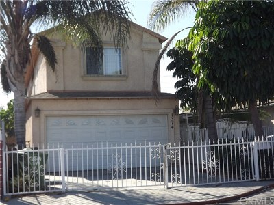 Compton Single Family Home For Sale: 1374 W 151st Street