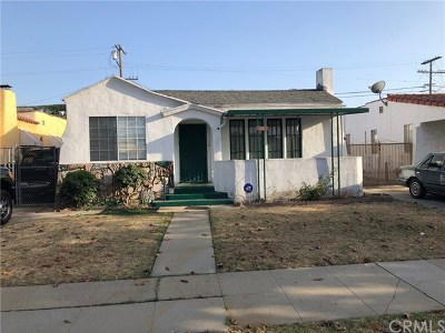 Los Angeles Single Family Home For Sale: 636 W 103rd Street