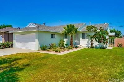 Bellflower Single Family Home For Sale: 10425 Ives Street