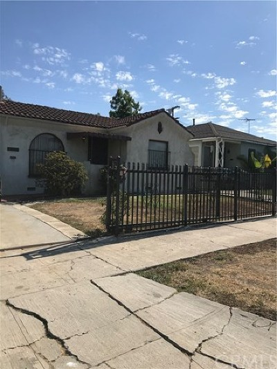 Los Angeles Single Family Home For Sale: 1418 W 91st Place
