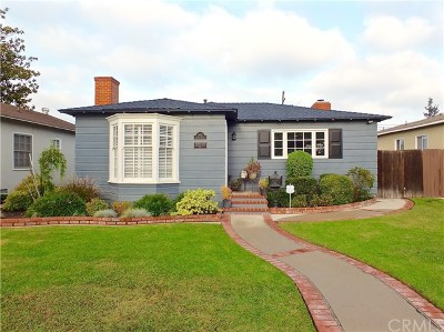 Long Beach Single Family Home For Sale: 3461 Gaviota Avenue