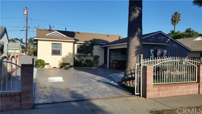 Compton Single Family Home For Sale: 15734 S Haskins Avenue