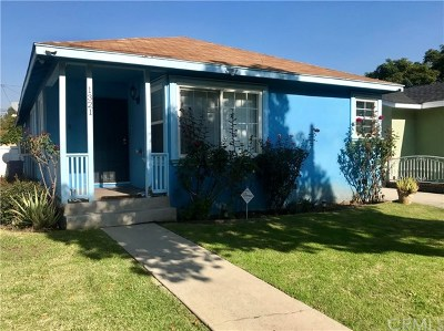 Long Beach Single Family Home For Sale: 1321 E Eleanor Street