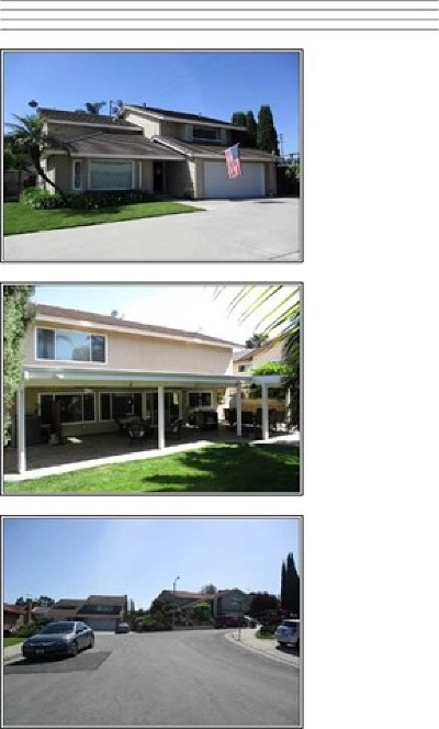 La Habra Rental For Rent: 1450 Oak Tree Court