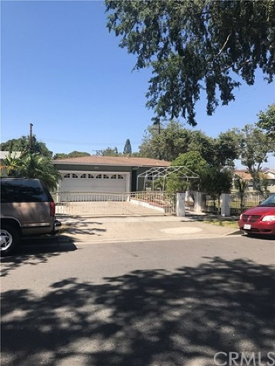 Santa Ana Single Family Home Active Under Contract: 901 W Occidental Street