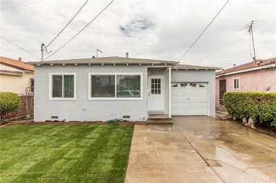 Torrance Single Family Home Active Under Contract: 1057 Fiat Street