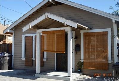 Long Beach Single Family Home For Sale: 1035 E 4th Street #C