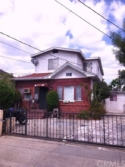 Los Angeles Single Family Home For Sale: 1561 W 23rd Street