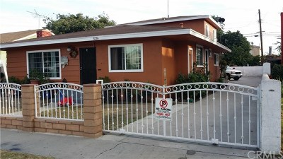 Lynwood Multi Family Home For Sale: 3126 Los Flores Boulevard