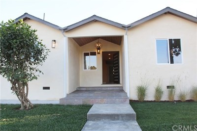 Torrance Single Family Home For Sale: 3720 W 177th Street