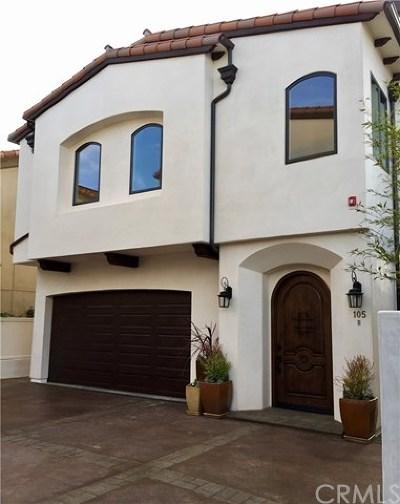 Redondo Beach Condo/Townhouse For Sale: 105 Juanita Avenue #B