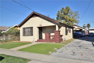 Los Angeles Multi Family Home For Sale: 627 W 58th Street