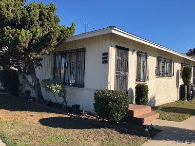 Gardena Multi Family Home For Sale: 15518 S Vermont Avenue
