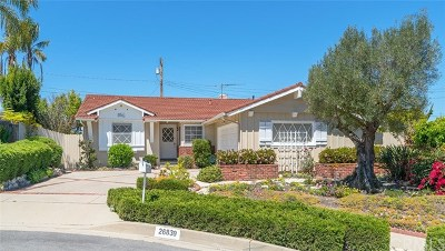 Rancho Palos Verdes Single Family Home For Sale: 26839 Hyte Road