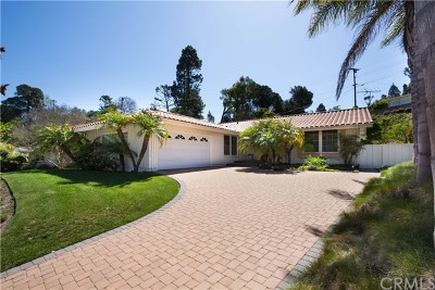 Rancho Palos Verdes Single Family Home For Sale: 5926 Flambeau Road