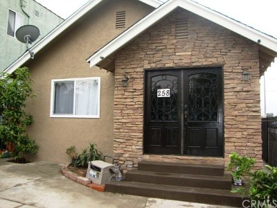 Los Angeles Single Family Home For Sale: 258 E 43rd Street