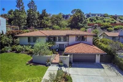 Palos Verdes Estates, Palos Verdes Peninsula Single Family Home For Sale: 1329 Via Cataluna