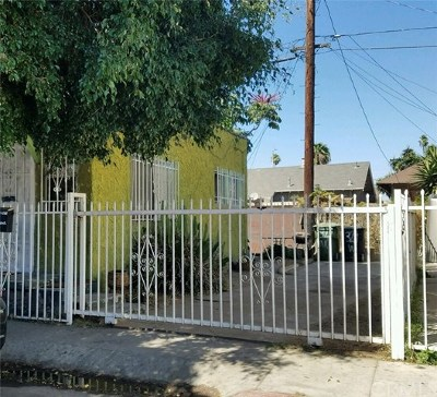Los Angeles Single Family Home For Sale: 329 W 63rd Place
