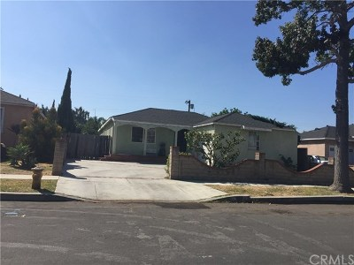 Gardena Single Family Home For Sale: 808 W 148th Place