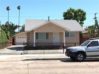 Los Angeles Single Family Home Active Under Contract: 830 W 66th Street