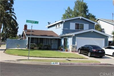 Carson Single Family Home For Sale: 303 E Cassidy Street
