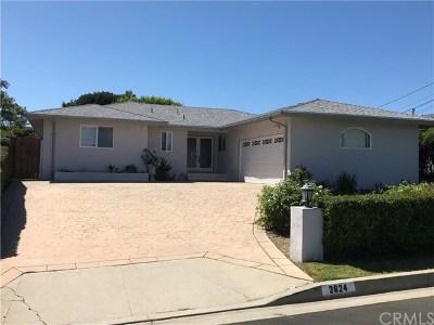 Rancho Palos Verdes Single Family Home For Sale: 2824 San Ramon Drive