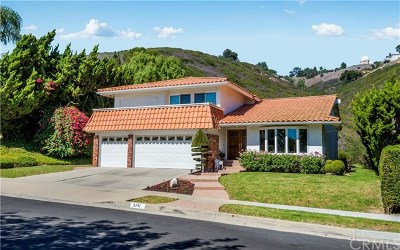Rancho Palos Verdes Single Family Home For Sale: 3741 Coolheights Drive