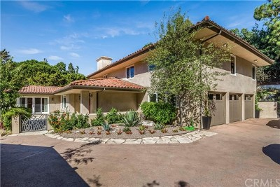 Palos Verdes Estates, Palos Verdes Peninsula Single Family Home For Sale: 1673 Cataluna Place