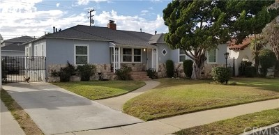 Inglewood Single Family Home For Sale: 8911 S 2nd Avenue