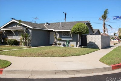 Gardena Single Family Home For Sale: 805 W 173rd Street